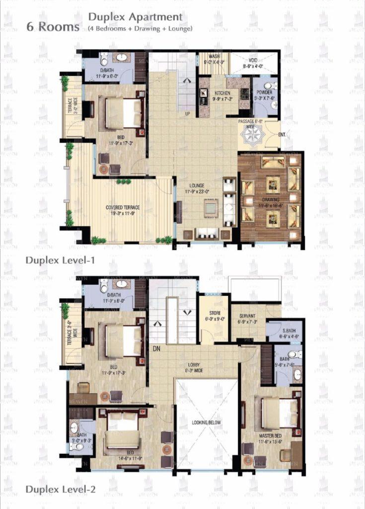 6 Room Apartment in Karachi - Ibrahim Heaven